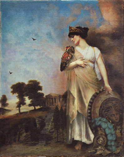 greek goddess painting athina wisdom justice war