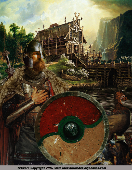 painting Beowulf hero of the Nordic people