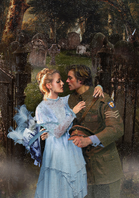solder romantic trist wife world war painting