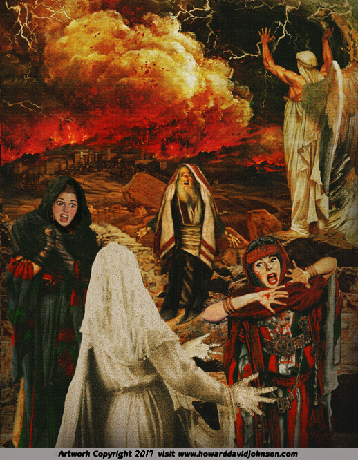 Angel calls Fire on Sodom lot�s wife turns to salt