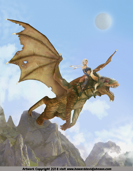 Fantasy art Elf Girl Dragon flying Dragn riding Dreagons Dragons