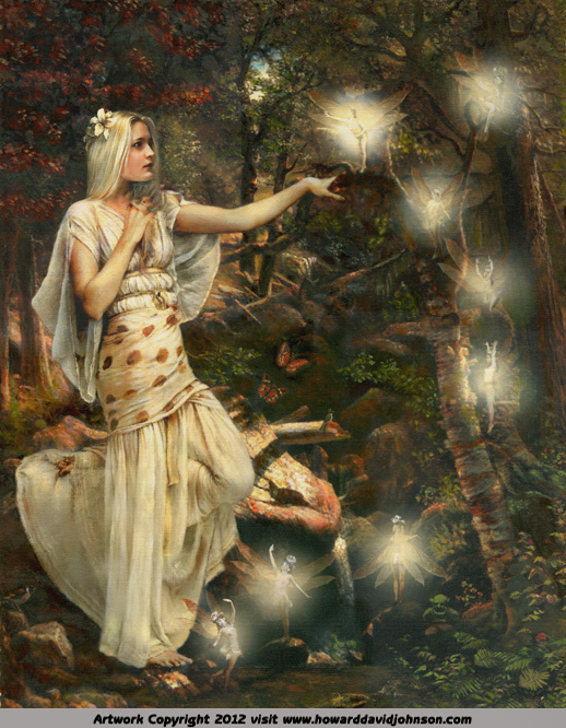 fairy painting dancing hallow