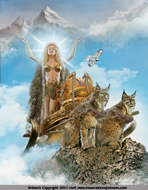 Freyja norse goddess of beauty and love