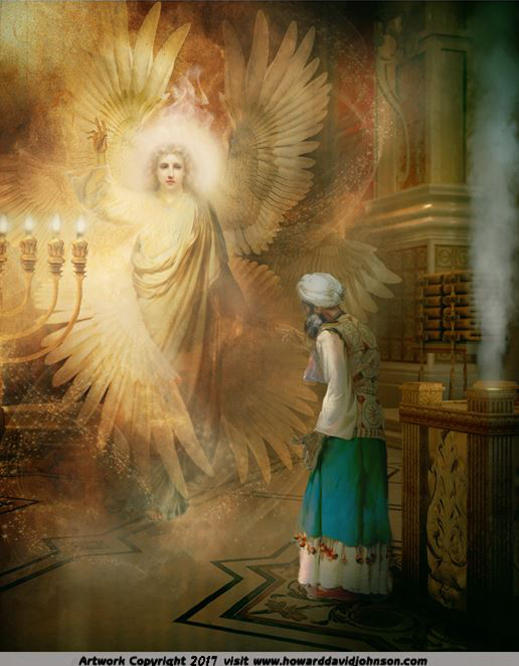 Zechariah and the Seraphim in the Temple