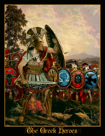 greek warrior paintngs spartans 300