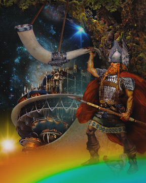 Himdol and the Bifrost bridge painting