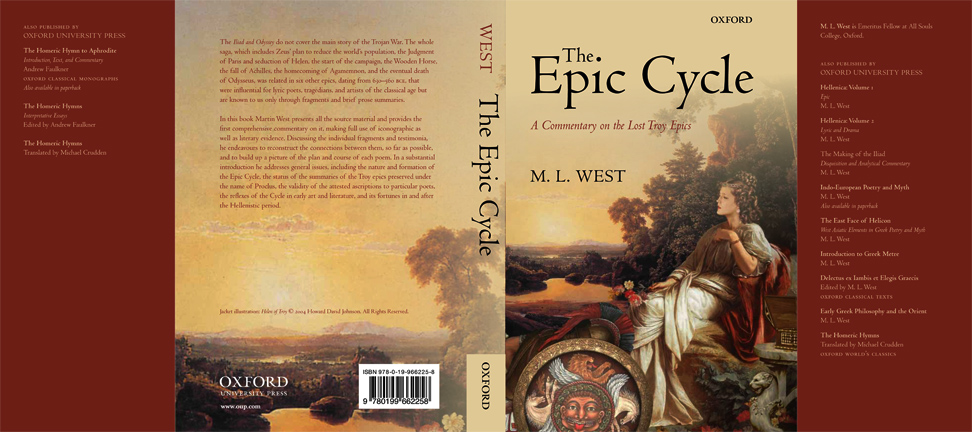 The Epic Cycle by M.L.West cover by Howard David Johnson