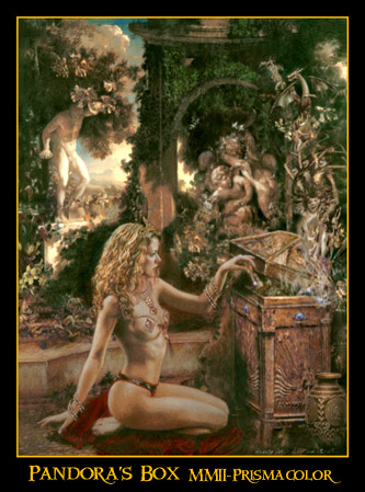 picture of Pandora legendary woman greek mythology