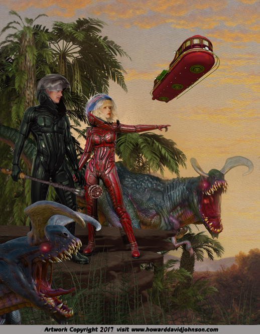 Science Fiction Artwork  Strange worlds planetary romance