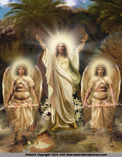 The Ressurection of Jesus Christ Angel Art the First Easter