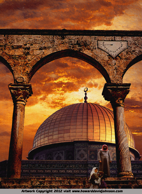 dome of the rock musslim faith art