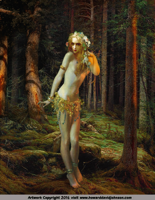 dryad nymph forest woodland