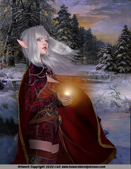 The King of Elfland's Daughter Painting art work illustration elf girl