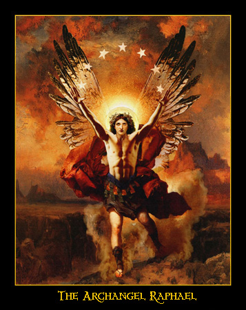 archangel Raphael fine art biblical angel