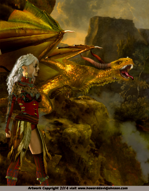 elven dragon trainer gold dragon wyvern picture
