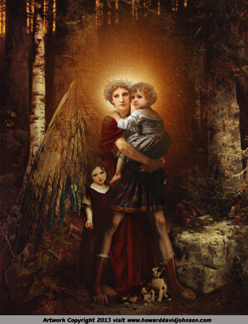 guardian angel savior angelic painting picture children lost soul spirit