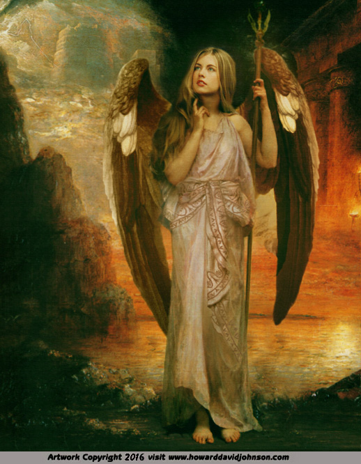 Angel art Painting of the Messinger