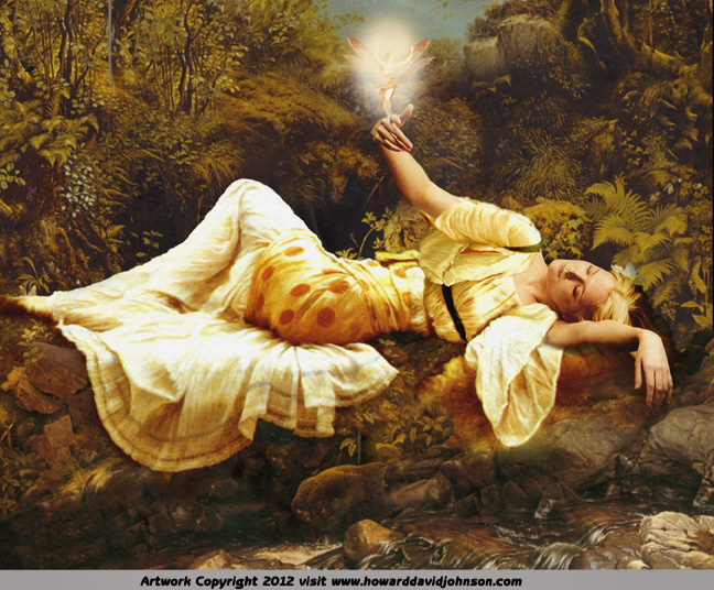 fairies ary art titania painting