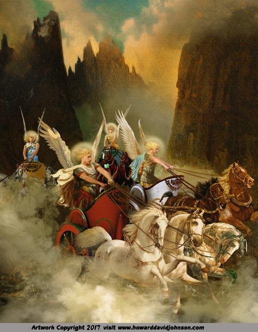 Zechariah's Vision of the 4 Angel Driven Chariots