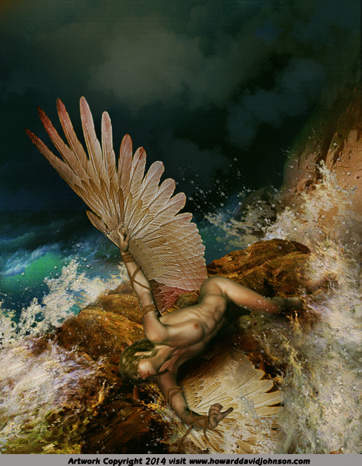 Icarus to close to the sun myth legend greek art