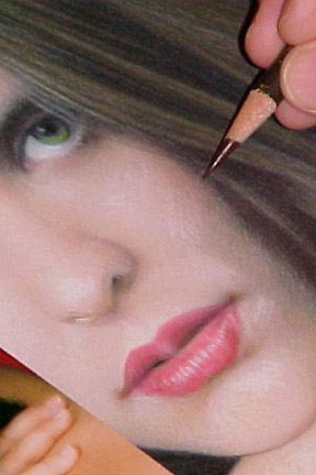 how to color pencil portrait
